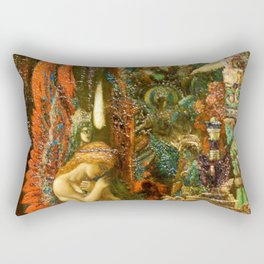 Portrait of the Goddess Saturn by Gustave Moreau Rectangular Pillow
