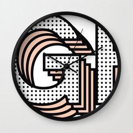 UGH! Typography Design Wall Clock