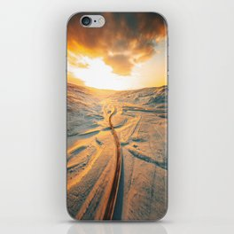 iceland road aerial view iPhone Skin