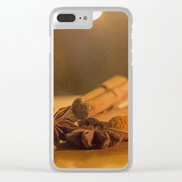 Christmas Spice. Clear iPhone Case
