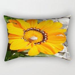 Bright Orange Gazania Flower with Snail Rectangular Pillow
