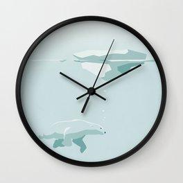 Polarbear Wall Clock