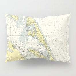 Vintage Map of The Outer Banks (1942) Pillow Sham
