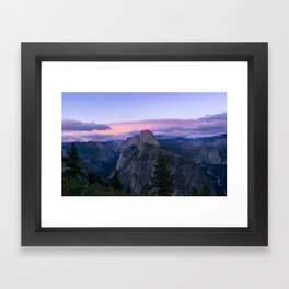 Yosemite National Park at Sunset Framed Art Print