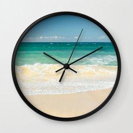 beach blue Wall Clock