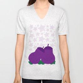 Eggplants  Unisex V-Neck