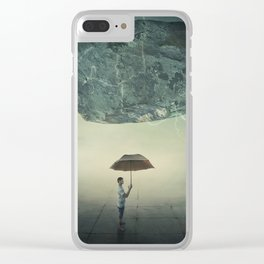 mystic umbrella protection Clear iPhone Case