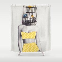 Bird Brained Babe Shower Curtain
