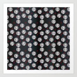 Traditional Japanese pattern SUZU Art Print
