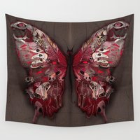 gothic Wall Tapestries featuring Gothic Butterfly by baba yagada