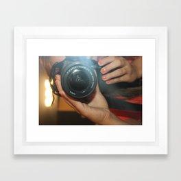 Canon Selfie Framed Art Print