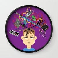 nerd Wall Clocks featuring Nerd by Mouki K. Butt