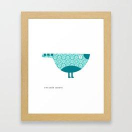 KOKORO (blue) Framed Art Print
