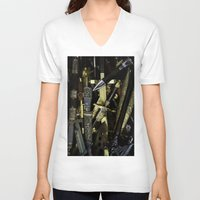 arsenal V-neck T-shirts featuring  Collage - Daggers, Dirks and Sabres by digital2real