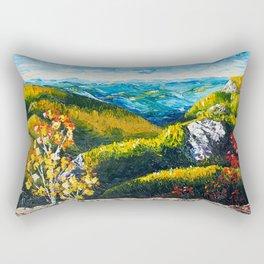 Landscape painting - Autumn dreams - by LiliFlore Rectangular Pillow