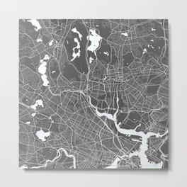 Medford Boston USA Modern Map Art Print Metal Print