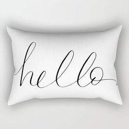 Just a fancy Hello Rectangular Pillow
