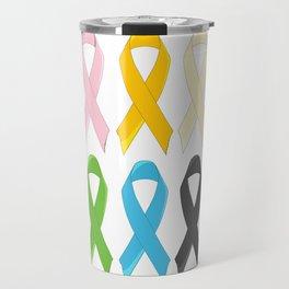 SIx Awareness Ribbons Travel Mug