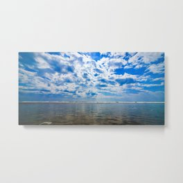 Beach Reflections on the sky Metal Print
