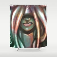 kraken Shower Curtains featuring Kraken by ssst