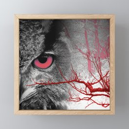 Pink-Eyed Owl & the Fanciful Forest Framed Mini Art Print