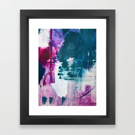 Complexity: a pretty abstract mixed-media piece in teal and purple by Alyssa Hamilton Art Framed Art Print