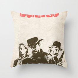 Django Unchained illustration Throw Pillow