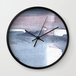 Dark gray colorful watercolor texture Wall Clock
