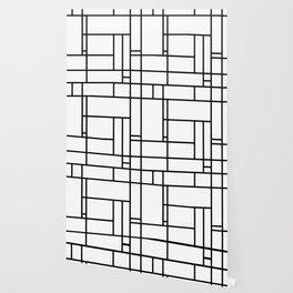 Mondrian linear pattern Wallpaper