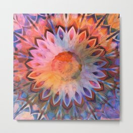 Autumn Rainbow Kaleidoscope Metal Print