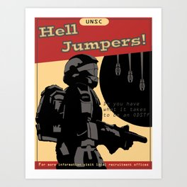 Hell Jumpers Art Print