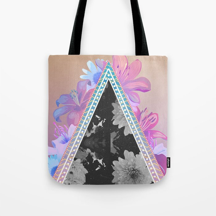 floral triangle Tote Bag
