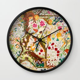 Fantasy Jacobean Forest Wall Clock