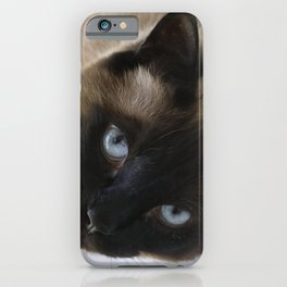 Siamese Soulful Expression iPhone Case