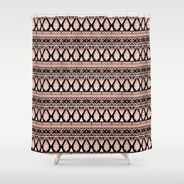 Brown grey ornament Shower Curtain