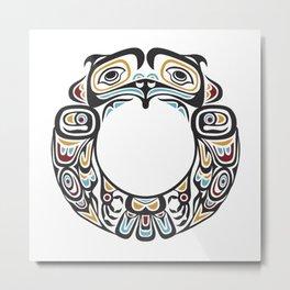 Native American Indian Tribal Motif Metal Print