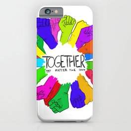 Together no matter the day iPhone Case