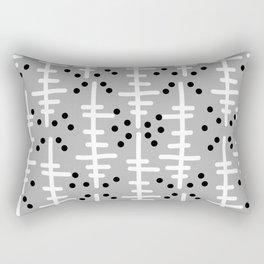 Helo - modern pattern design gift for college dorm decor trendy monochromatic grey neutral bold Rectangular Pillow