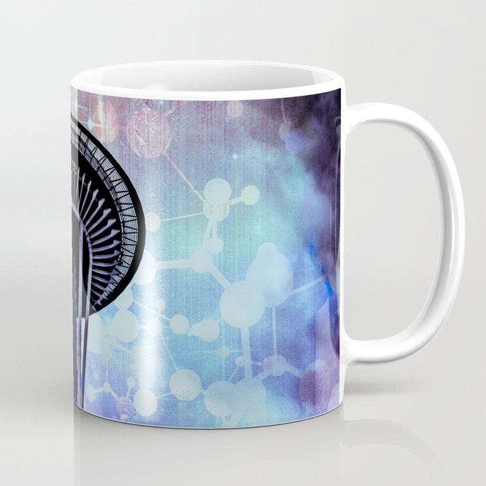 Space Needle - Seattle Stars Clouds Fog Coffee Mug