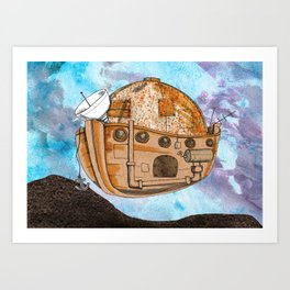 Nave : viagem no tempo Art Print