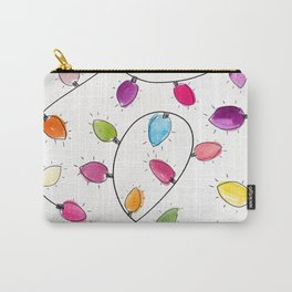 Festive Lights Watercolour Pattern Carry-All Pouch