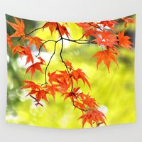 autumn Wall Tapestries featuring AUTUMN by Teresa Chipperfield Studios