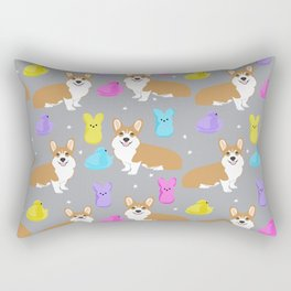 Corgi peeps easter marshmallow spring traditions dog breed welsh corgi Rectangular Pillow