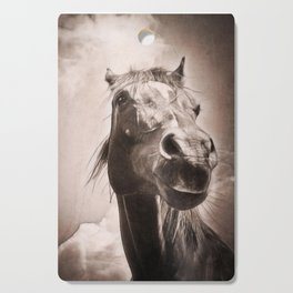 Arabian Horse Spring Storm  Cutting Board