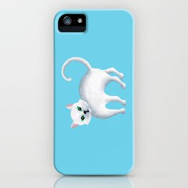 Maddie, White Kitten iPhone Case