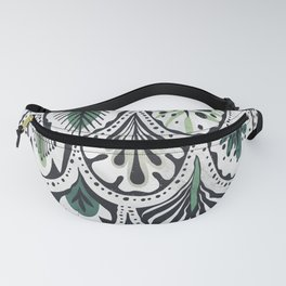 Blue and Green Feathers Fanny Pack