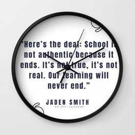 49 |  Jaden Smith Quotes | 190904 Wall Clock