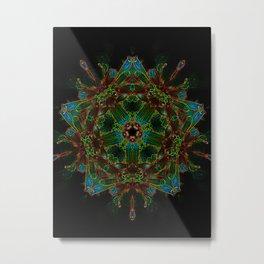 Electrified Star Metal Print