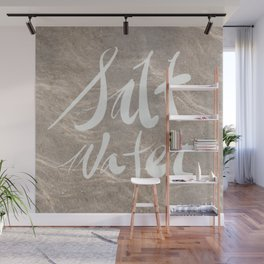 Calligraphy salt water Wall Mural