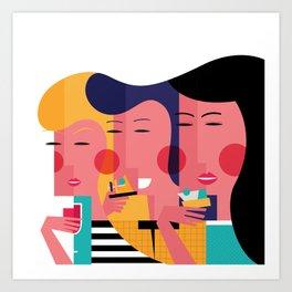 Ciudad de tapas Art Print